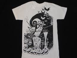 skellington new t shirt s 3xl nightmare before sally