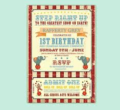 circus themed 1st birthday wedding stationery benson studio