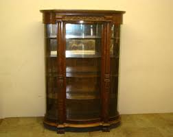 oak china cabinet etsy