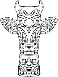 native american coloring pages totem pole coloringstar