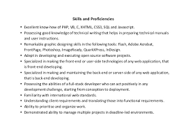 Php Programmer Resume Sample by Web Developer Resume Sample