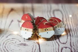 santa ornament set painted