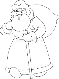 santa claus happy new year sketch stock illustration image