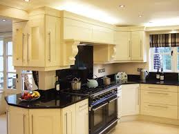 kitchen lovely cream kitchen cabinets with black countertops