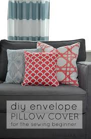 How To Make Sofa Pillow Covers How To Make An Envelope Pillow Cover