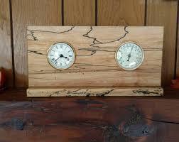 Wood Desk Clock Wood Desk Clock Etsy