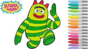 yo gabba gabba coloring book brobee colouring pages