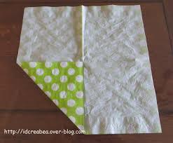 pliage de serviette en papier 2 couleurs feuille pliage serviette id créa u0027béa des créations personnalisées pour