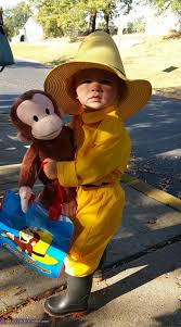 Curious George Costume Man In The Yellow Hat With Curious George Costume