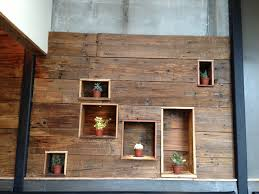 artist wall wood repurposed wood wall trellischicago