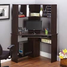 Corner Computer Desk With Shelves Computer Desk With Hutch Espresso Walmart