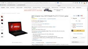 best pc gaming deals black friday msi computer corp gs70 stealth pro 210 17 3 inch laptop discount