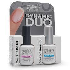 gelish dynamic duo soak off gel nail polish foundation base and