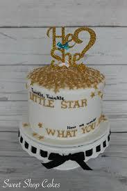 twinkle twinkle little star gender reveal cake baby wilson