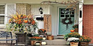 Rustic Fall Decor Top 10 Front Door Fall Decorating Ideas Exterior House