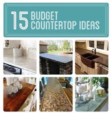 inexpensive kitchen countertop ideas 15 budget countertop ideas diy cozy home