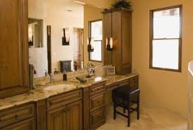 what color goes with brown bathroom cabinets ideas for decorating a bathroom with light wood cabinets