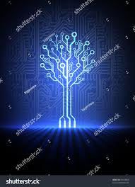vector circuit board background blue electronic stock vector