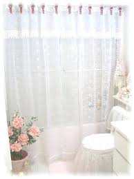 Curtains With Ties Tie Back Shower Curtains Teawing Co