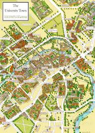 Und Campus Map Cambridge University Campus Departments Colleges Birds Eye 3d