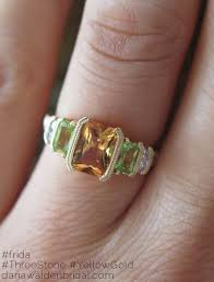 peridot engagement ring frida citrine peridot engagement ring in yellow gold