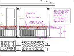 Building Code Handrail Height 12 Best Porch Ideas Images On Pinterest Deck Skirting Deck