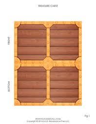 pirate treasure chest template make your own paper treasure chest