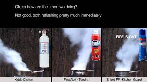 First Alert Kitchen Fire Extinguisher fire extinguisher shoot out youtube