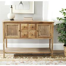 wood finish dining room sideboard buffet console table cabinet