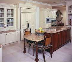 solid wood kitchen furniture luxury classic solid wood kitchen cabinet with kitchen island