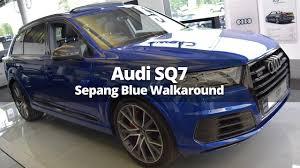Audi Q7 Colors - 2017 audi sq7 sepang blue walk around 4k youtube