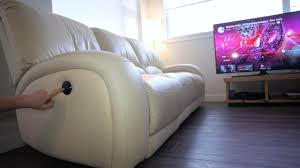 Cheers Recliner Sofa Singapore Automatic Reclining Leather Sofa Youtube