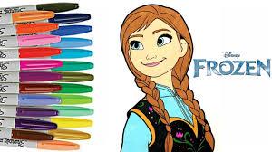 disney frozen coloring book princess anna colouring frozen