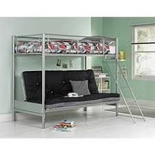 Black Futon Bunk Bed New Mika Children U0027s Metal Bunk Bed With Futon Frame Only Https