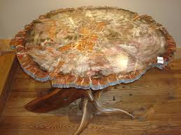 petrified wood dining table petrified wood table round 39 x 31 holbrook az i want this intended