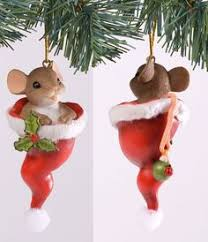 charming tails gone nutty for christmas mouse ornament by charming