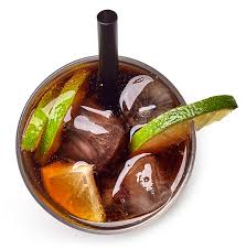 cuisine libre cuba libre cocktail with rum cola and lime stock image image of