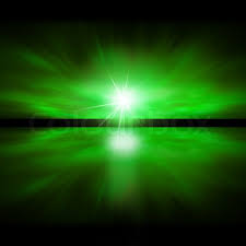 sky of green light fractal landscape stock photo colourbox