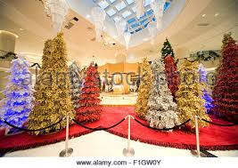 Christmas Decorations Shop In Lakeside by Christmas Decoration In A Shopping Mall Many Golden Christmas