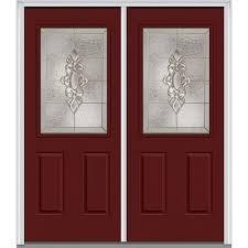 Home Depot Double Doors Interior Mmi Door 72 In X 80 In Left Hand Inswing 6 Panel Classic Painted