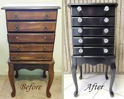 Whitewash Jewelry Armoire Upcycled Jewelry Armoire Added General Finishes Black Gel Stain