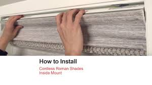 bali blinds how to install cordless roman shades inside mount