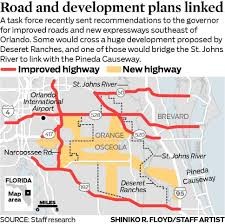 Map Of Central Florida by Deseret Ranches Plans For Roads And Development Raise Controversy