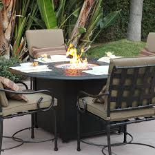 Aluminum Patio Furniture Set - darlee malibu 5 piece cast aluminum patio fire pit dining set