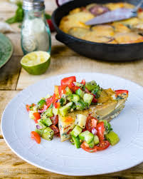spanish tortilla with kiwi and chili salsa quick and easy eggs