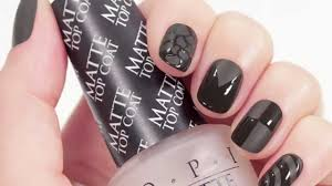 opi matte top coat matte french mani tutorial youtube