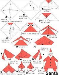How To Make A Origami Santa - how to make a origami santa how to make origami how to make santa
