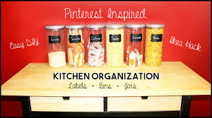 Diy Kitchen Organization Ideas Pinterest Inspired Kitchen Organization Easy Diy Jars U0026 Labels