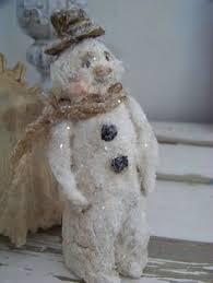 Paper Mache Christmas Crafts - vermont harvest folk art by doreen frost snowmen pinterest