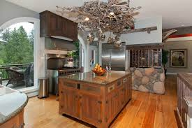 river kitchen island eclectic kitchen with kitchen island high ceiling in gig harbor